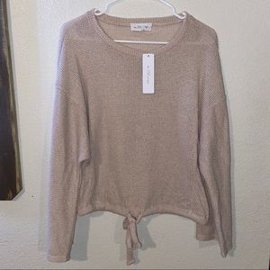Sweater Cream Knit Cropped